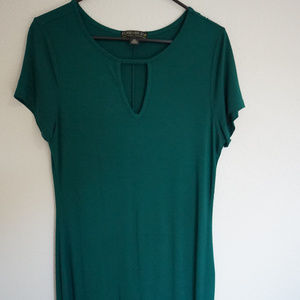Forever21 Plus Body Con Dress Green